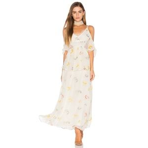 FP Magnolia Maxi Cold Shoulder Lace Cut-Out Cutout